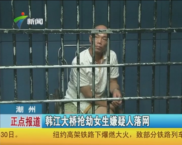 潮州:韩江大桥抢劫女生嫌疑人落网