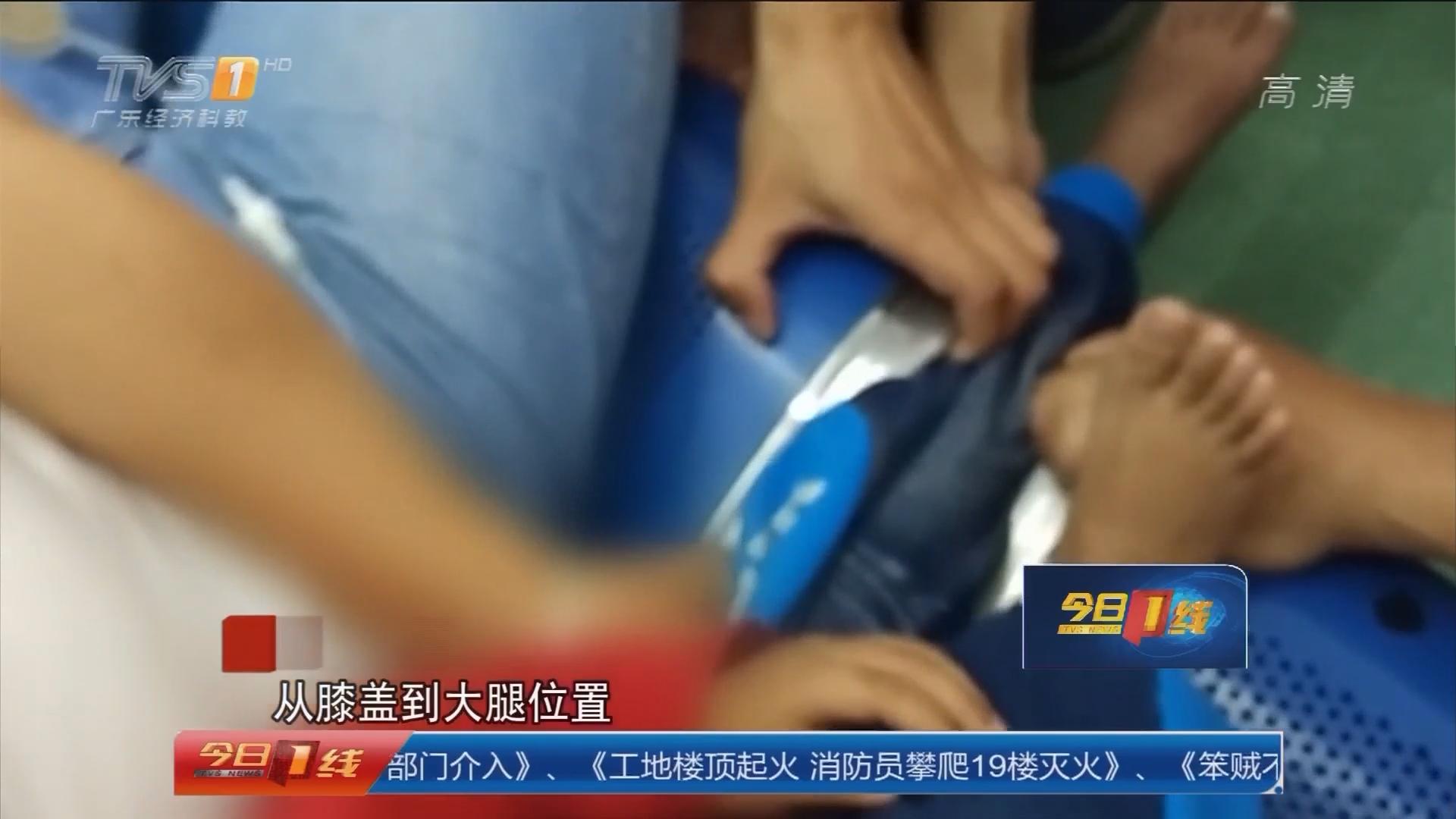 肇庆怀集:小孩腿卡座椅 消防紧急救援