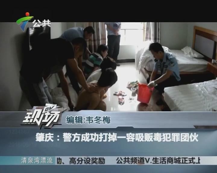肇庆:警方成功打掉一容吸贩毒犯罪团伙