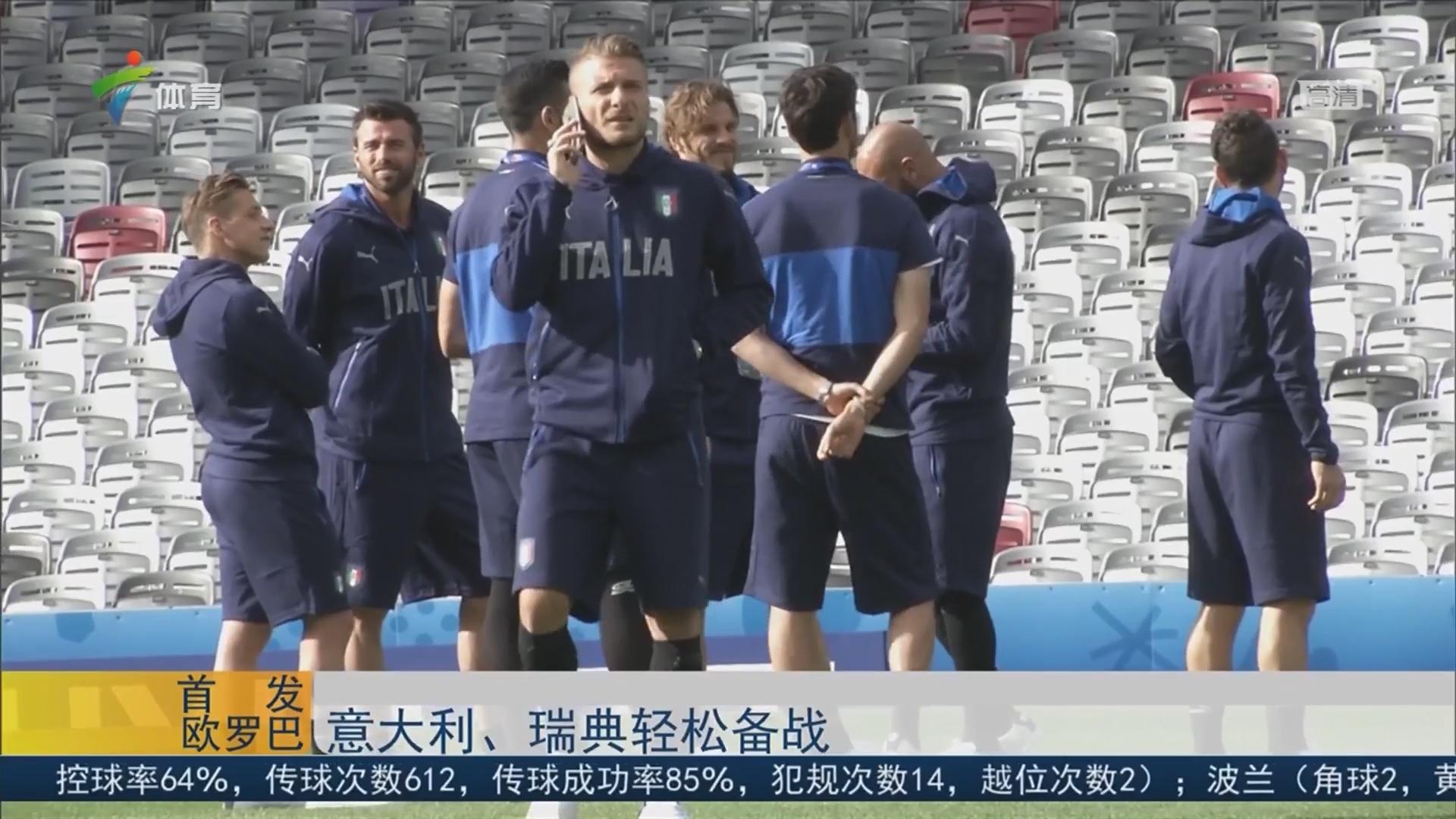 意大利、瑞典轻松备战