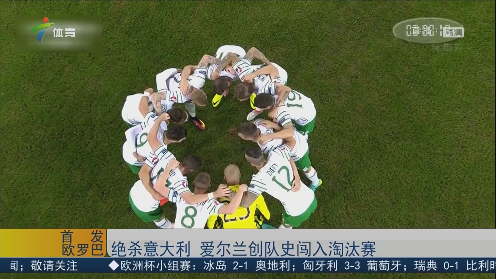绝杀意大利 爱尔兰创队史闯入淘汰赛