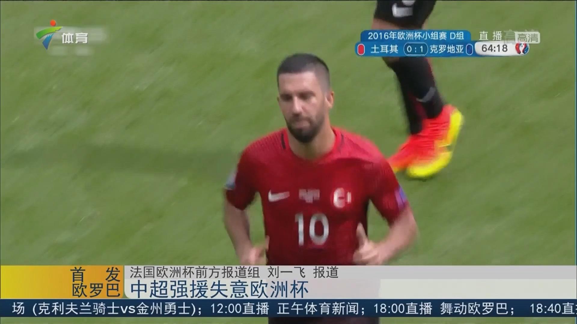 中超强援失意欧洲杯