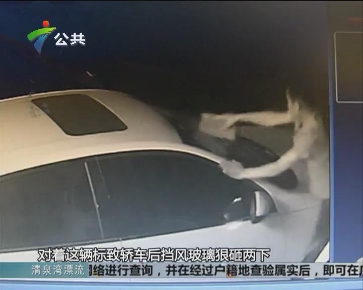 为抢车位砸轿车玻璃 谁知砸的是表哥车