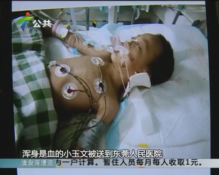 东莞:球场铁门骤然倒塌 6岁男童被砸重伤