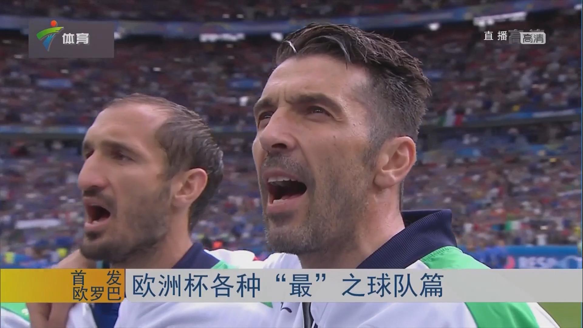 """欧洲杯各种 """"最"""" 之球队篇"""
