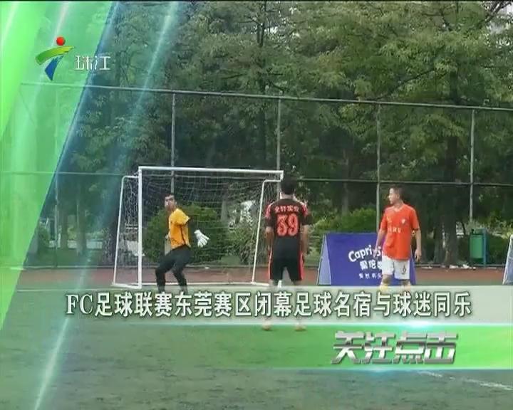 FC足球联赛东莞赛区闭幕 足球名宿与球迷同乐