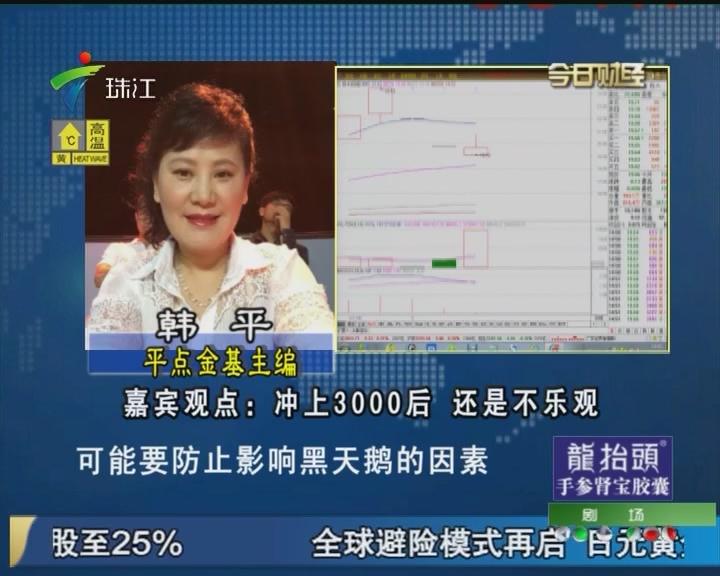 韩平:冲上3000后 还是不乐观
