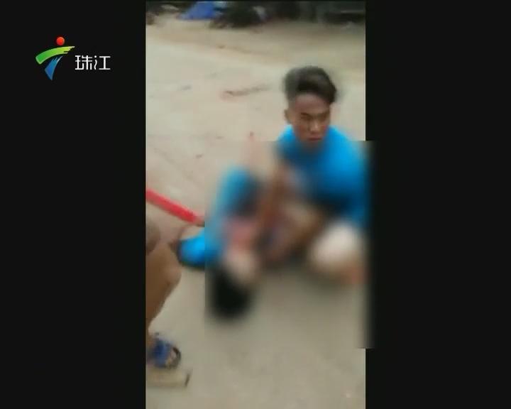 雷州:男子当街被割喉 嫌疑人未成年