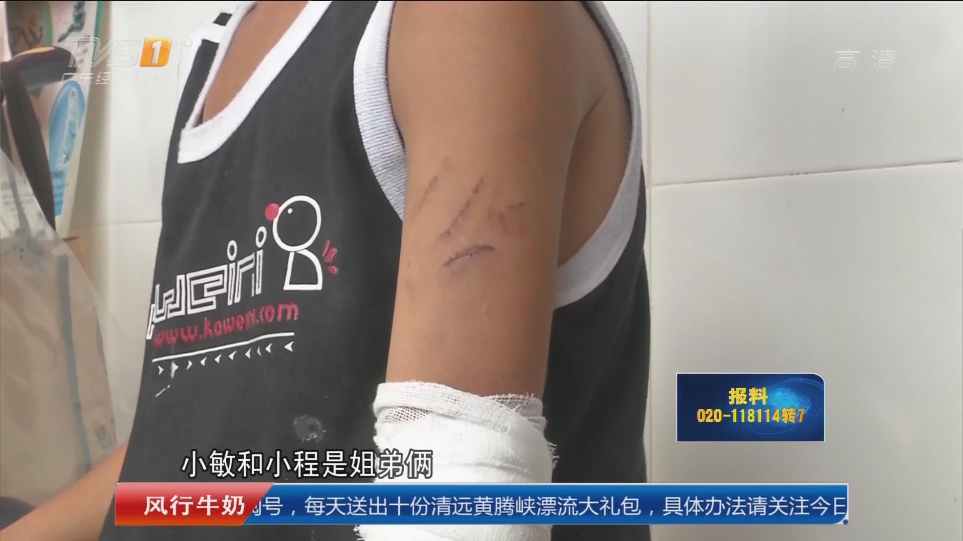 揭阳普宁:小姐弟遭虐打满身伤 政府介入