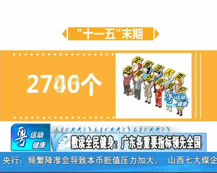 粤运动粤健康 88全民健身日特备节目1