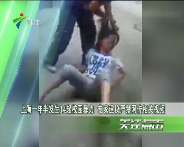 上海一年半发生14起校园暴力 专家建议严禁网传相关视频