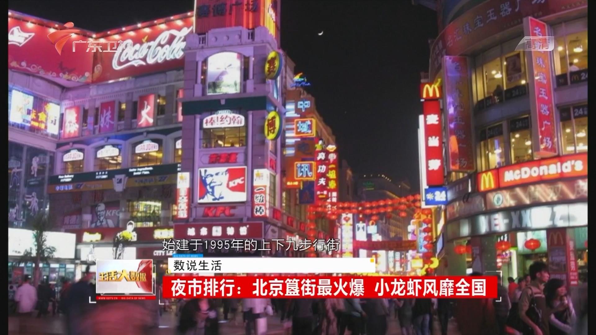夜市排行:北京簋街最火爆 小龙虾风靡全国