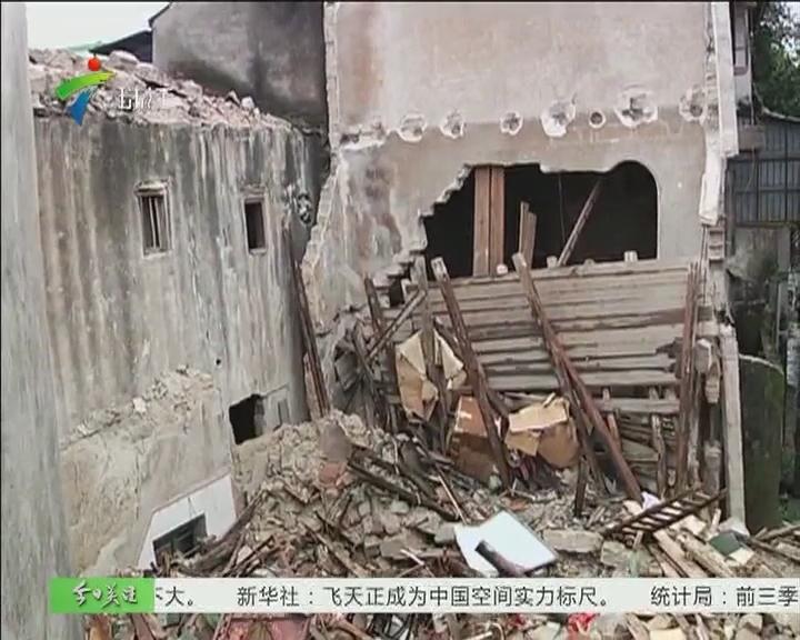 汕头/汕头:民宅突然倒塌 屋主被压身亡