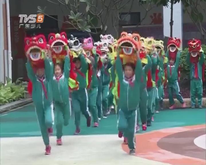 南方小记者体验佛山铁军小学狮艺课堂