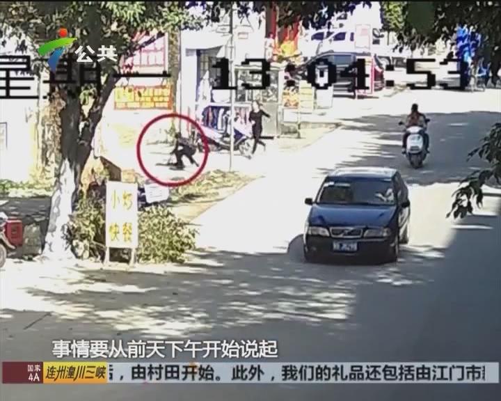 梅州:路上猛追七百米 女汉子勇擒小偷