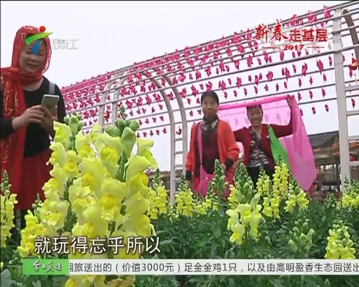 新春走基层:独居老人开心游园赏花