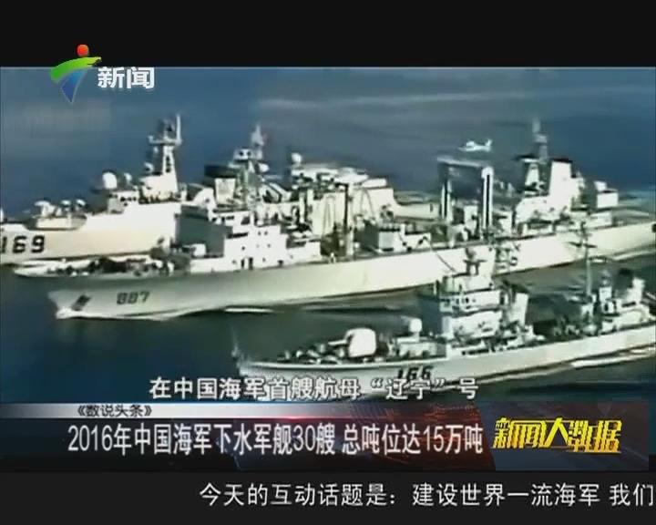 2016年中国海军下水军舰30艘 总吨位达15万吨