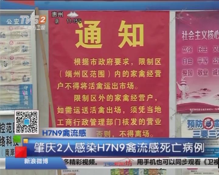 H7N9禽流感:肇庆2人感染H7N9禽流感死亡病例