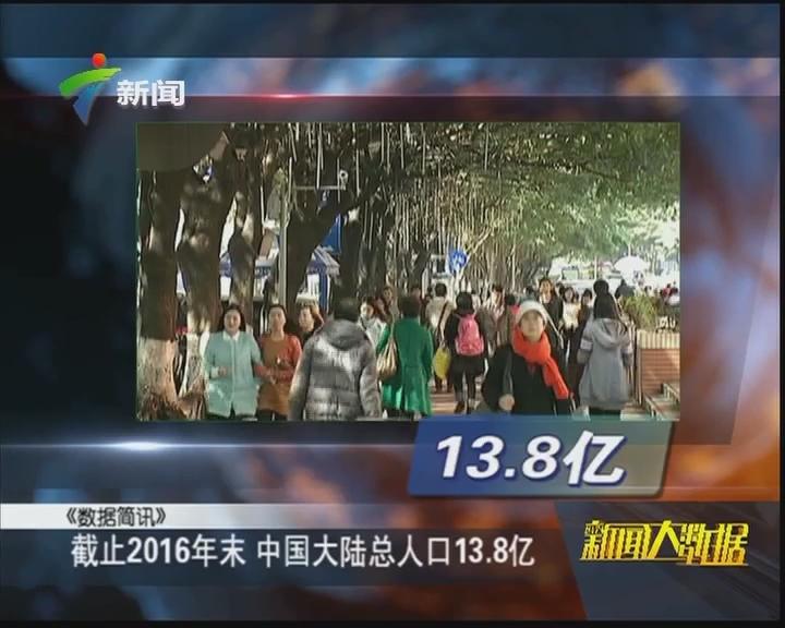 截止2016年末 中国大陆总人口13.8亿