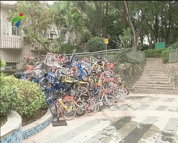 深圳:共享单车堆积成山 乱象何时能止?