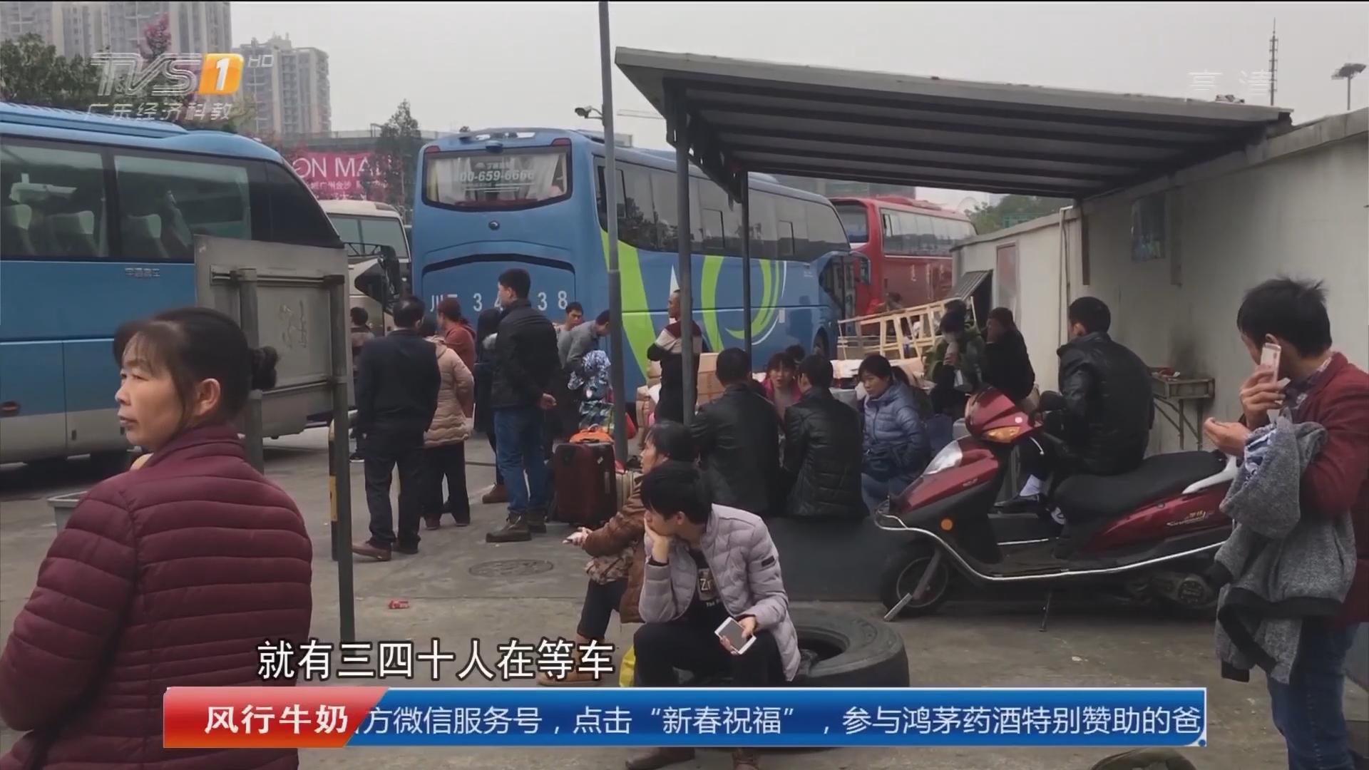 """广州:""""野鸡车""""猖獗 正规大巴被抢生意"""