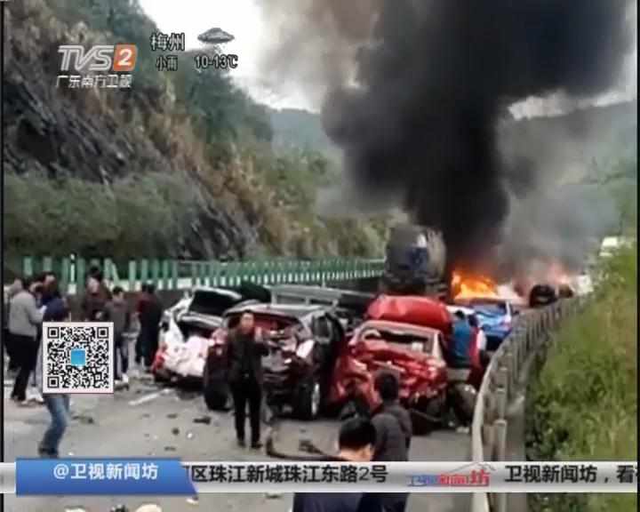 春运第二天:惨烈!清连高速发生车祸 6死16伤