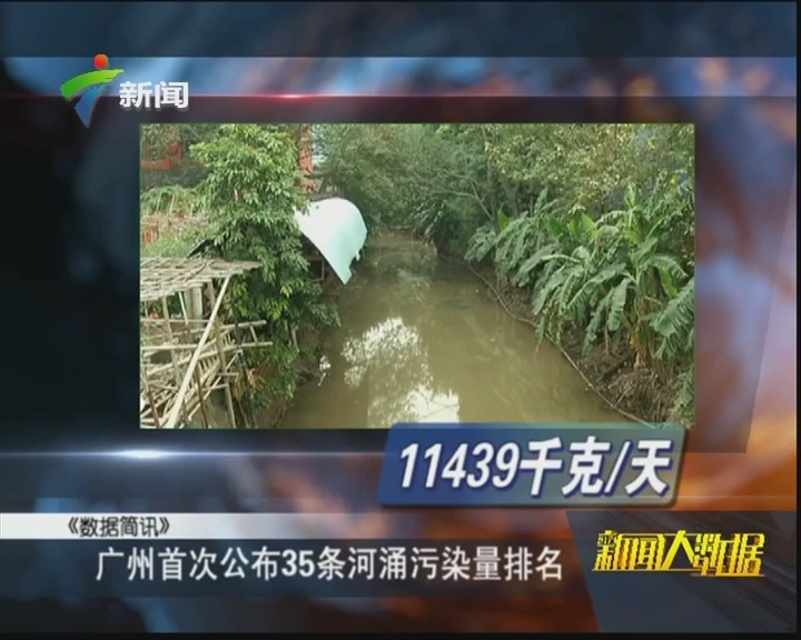 广州首次公布35条河涌污染量排名