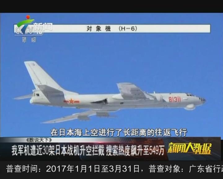 我军机遭近30架日本战机升空拦截 搜索热度飙升至549万