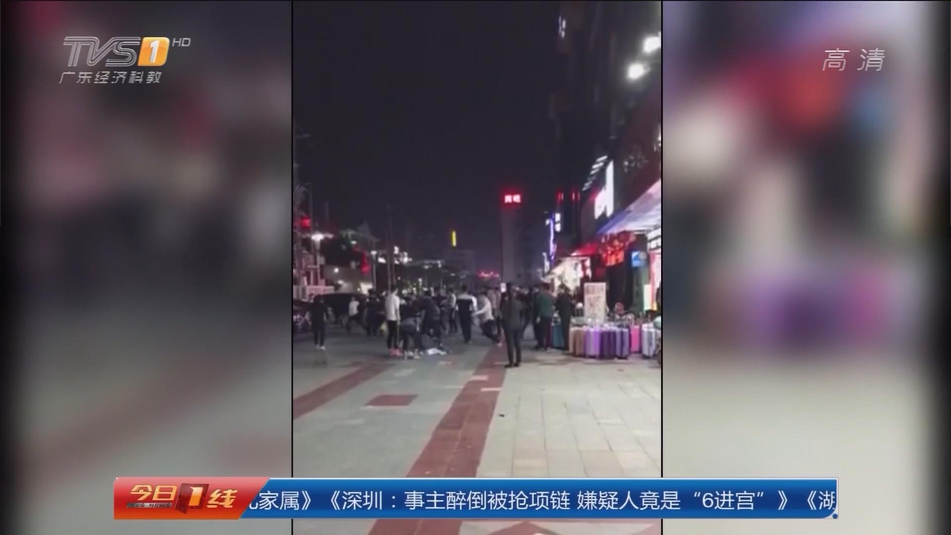 惠州仲恺高新区:小口角变街头打斗 警方介入调查