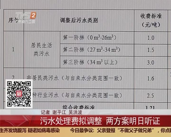 广州:污水处理费拟调整 两方案明日听证