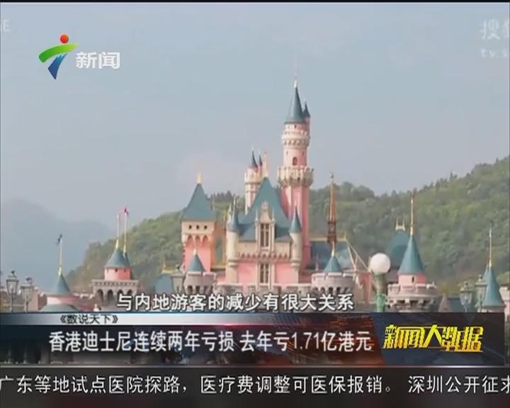 香港迪士尼连续两年亏损 去年亏1.71亿港元