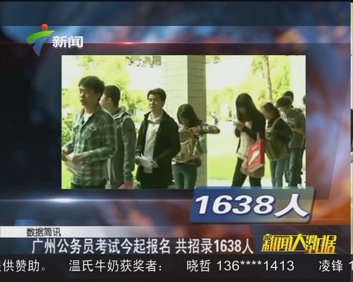 广州公务员考试今起报名 共招录1638人