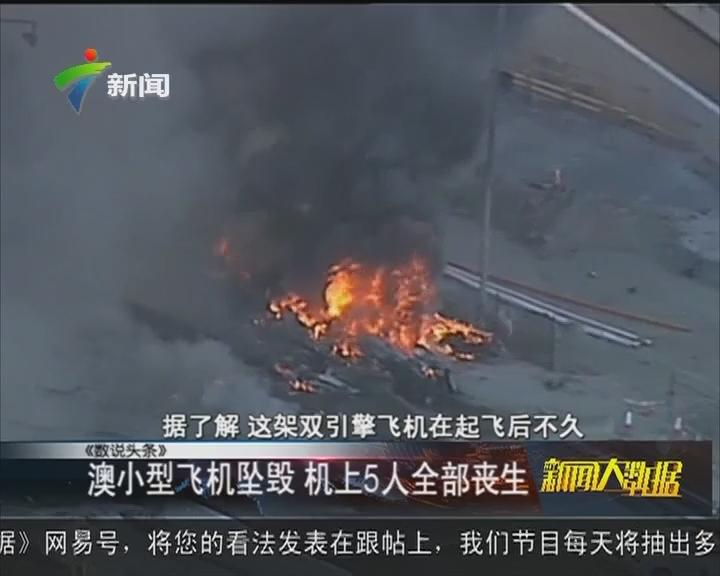 澳小型飞机坠毁 机上5人全部丧生