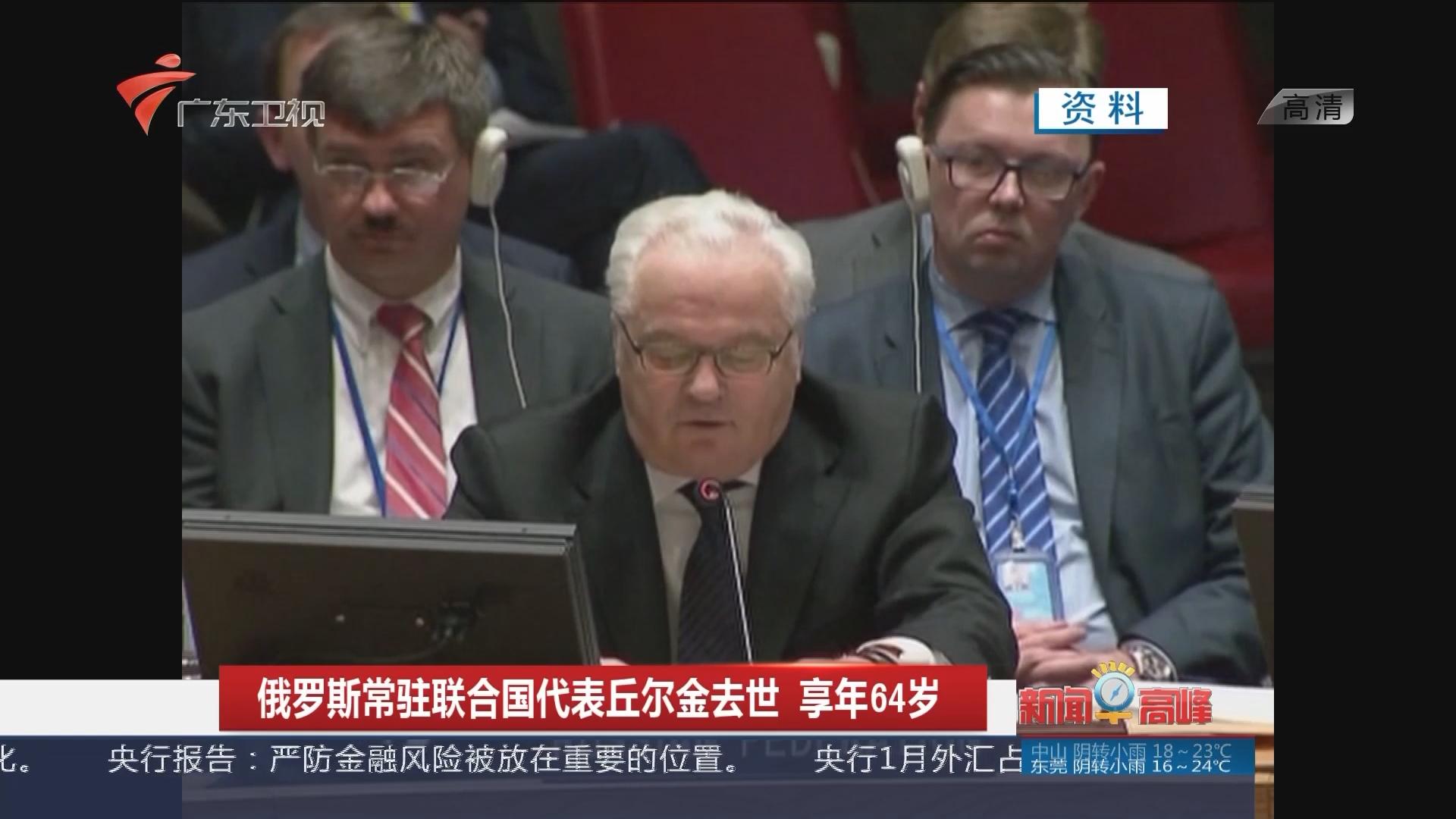 俄罗斯常驻联合国代表丘尔金去世 享年64岁