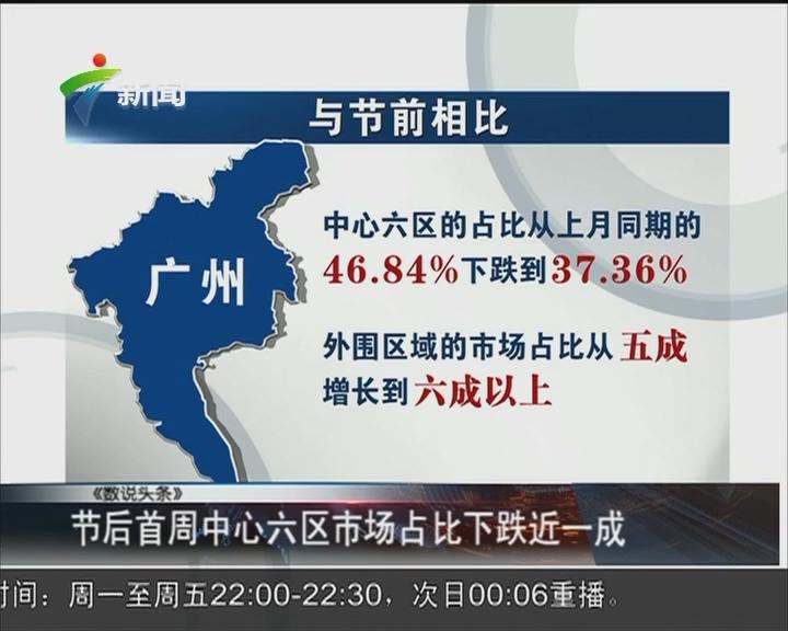 广州:中心城区房源供应减少 买家转战周边城区