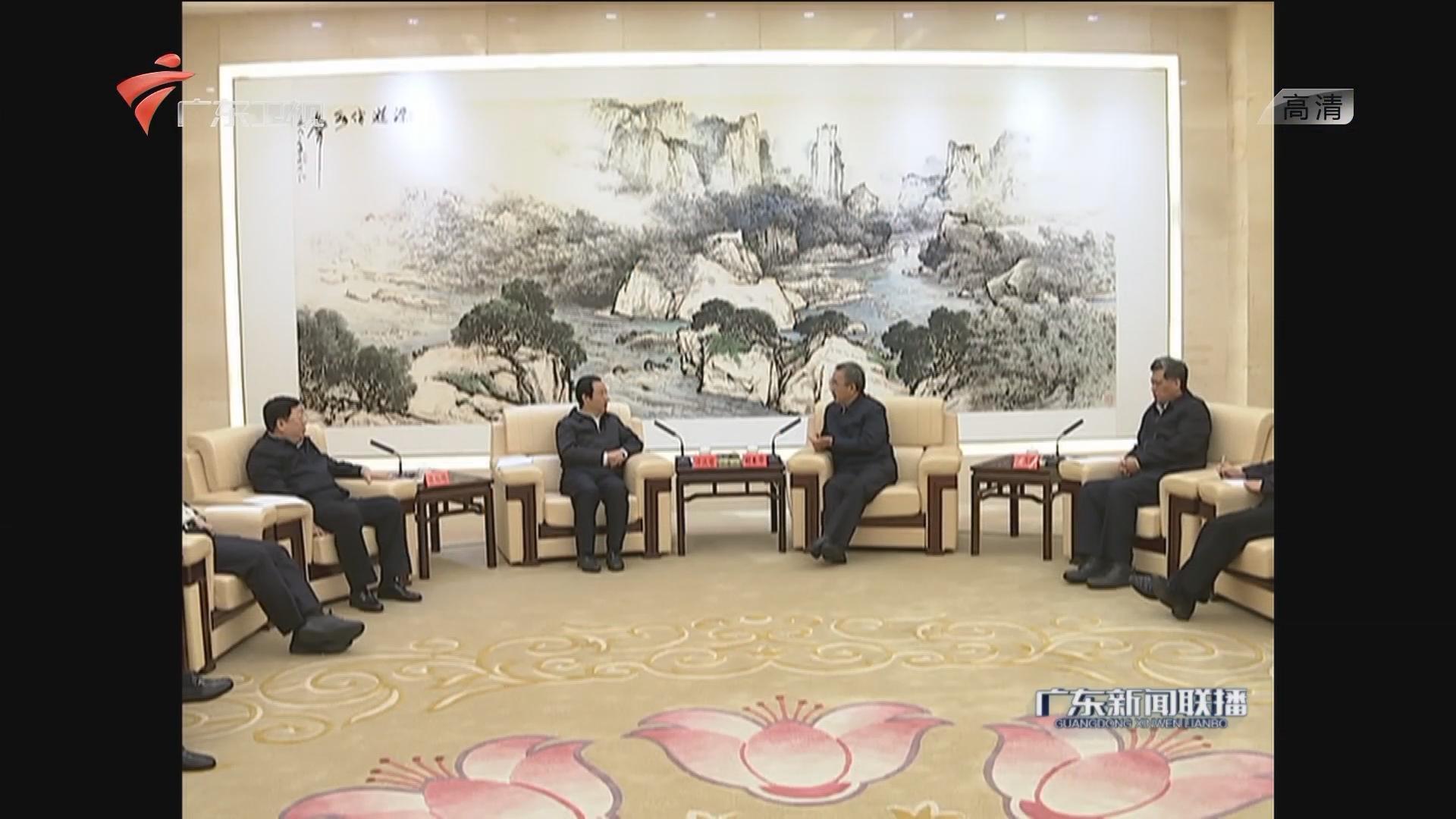 胡春华马兴瑞会见湖南省政府代表团