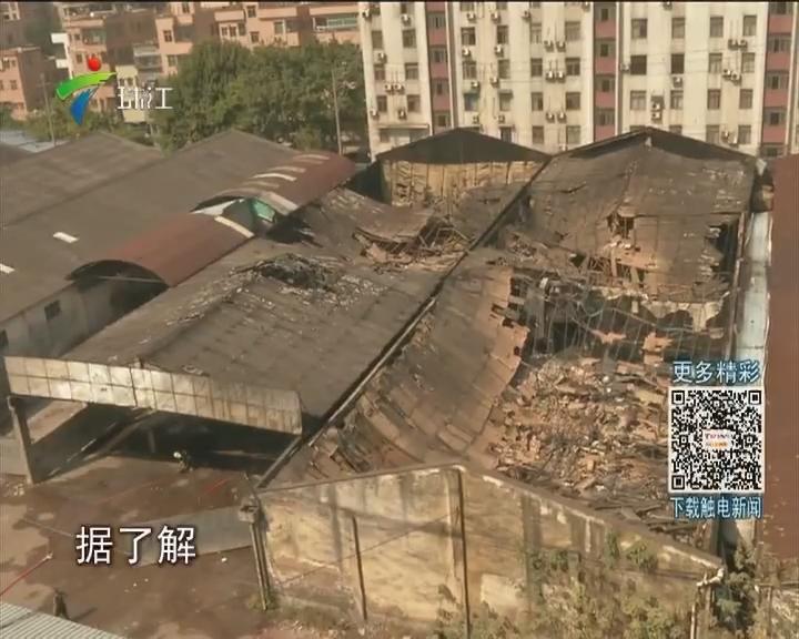 黄埔:工业园突发大火 17台消防车到场扑救