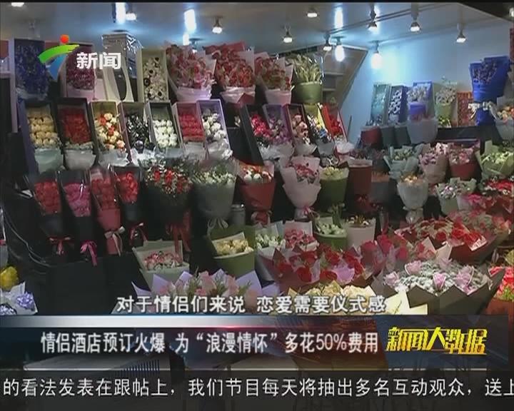 """情侣酒店预订火爆 为""""浪漫情怀""""多花50%费用"""