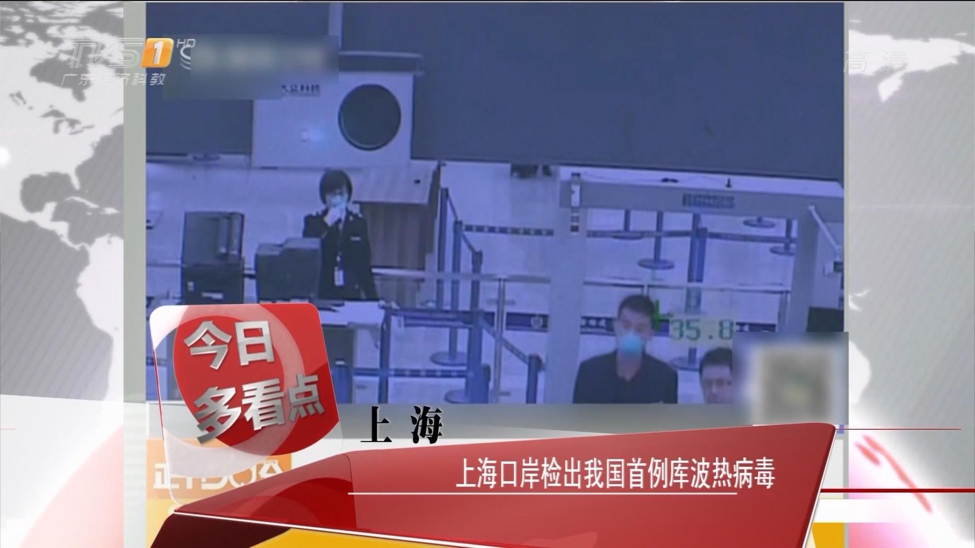 上海:上海口岸检出我国首例库波热病毒