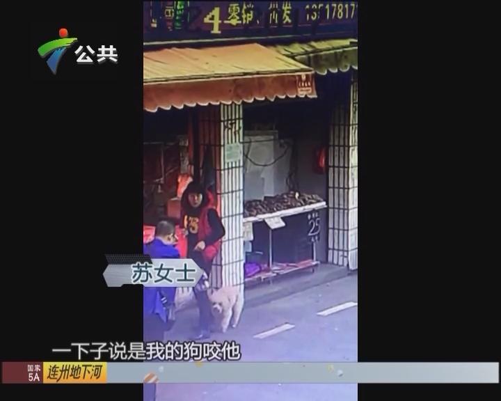 男子买菜声称被狗咬 监控视频还原真相