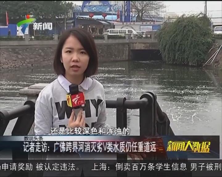 记者走访:广佛跨界河消灭劣V类水质仍任重道远