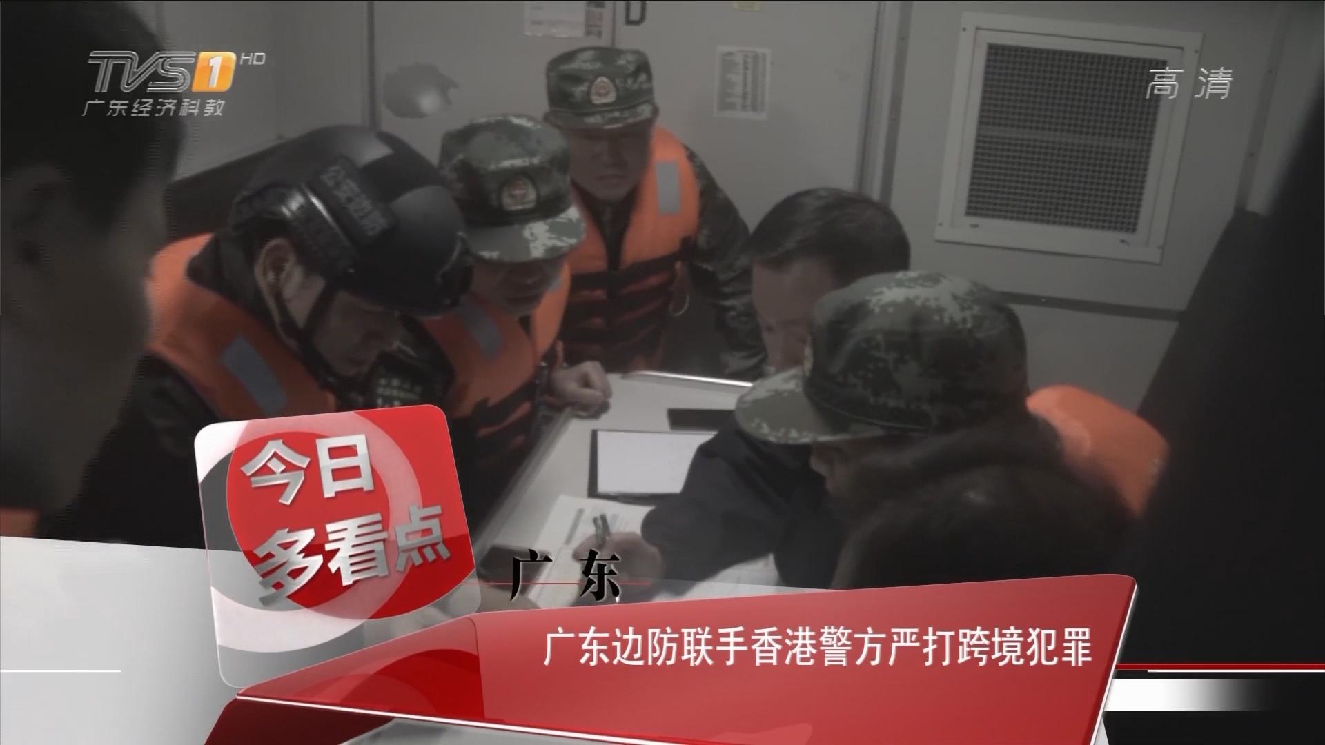 广东:广东边防联手香港警方严打跨境犯罪