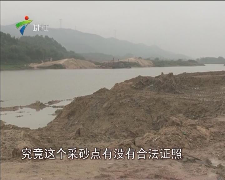 佛冈:河道有人偷采河砂 村民担忧河堤安全