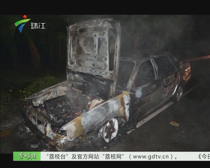 江门:汽车自燃 司机逃离却被撞死