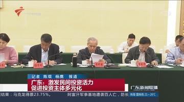 广东:激发民间投资活力 促进投资主体多元化