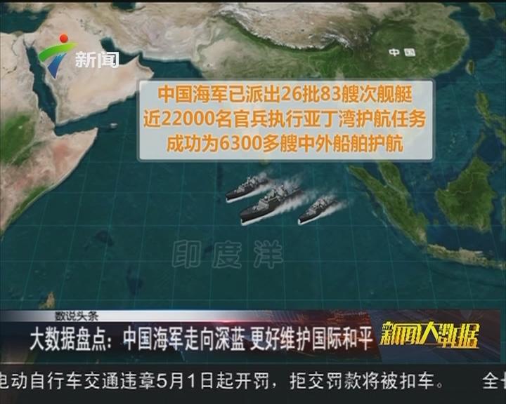 大数据盘点:中国海军走向深蓝 更好维护国际和平