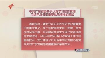 中共广东省委关于认真学习宣传贯彻习近平总书记重要批示精神的通知
