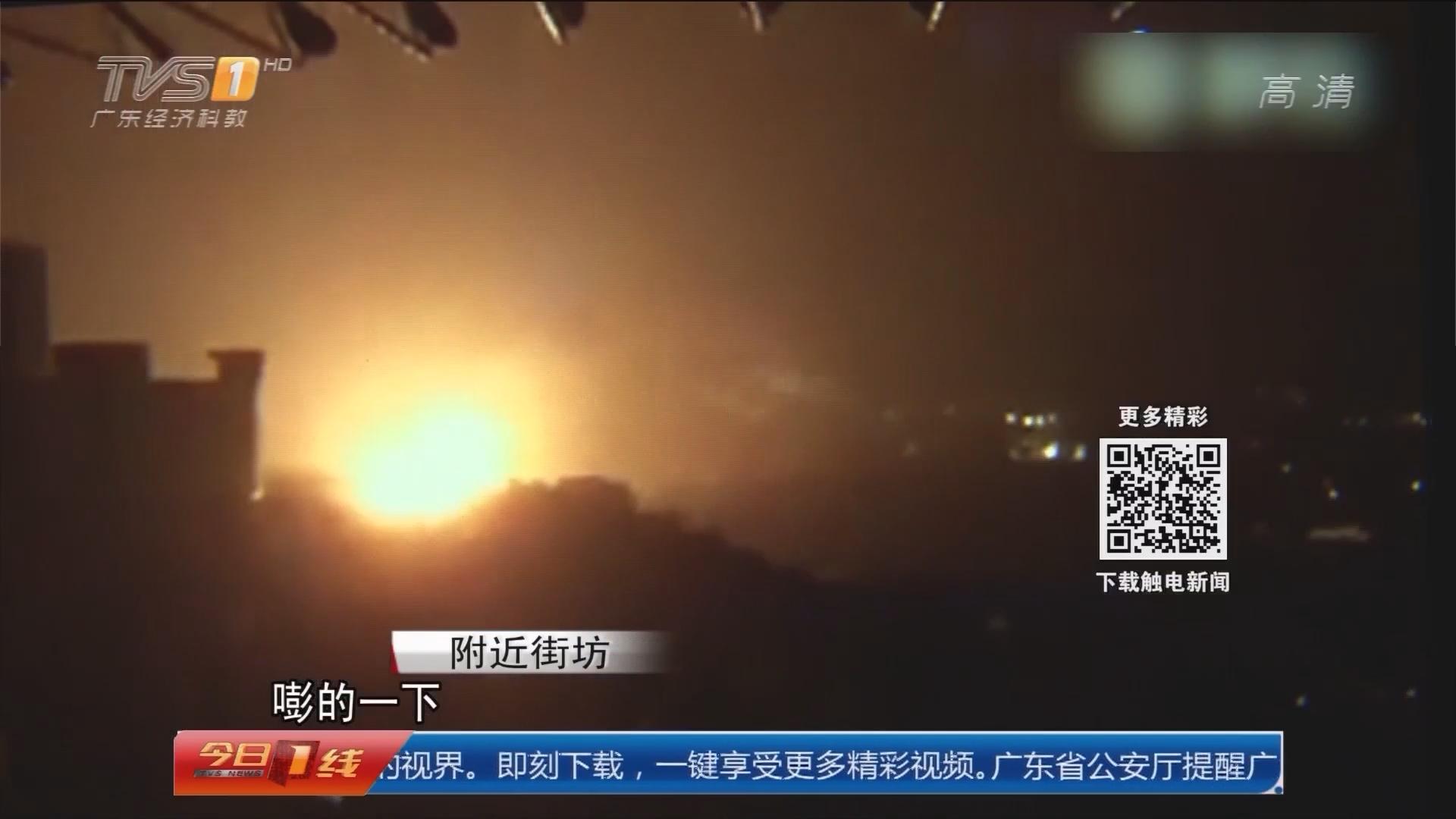 广州番禺:番禺厂房今晨大火 消防2小时扑灭