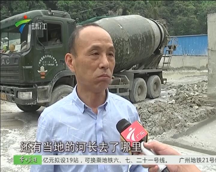 """河涌惨变""""牛奶河"""" 记者随韩志鹏前往""""护河"""""""