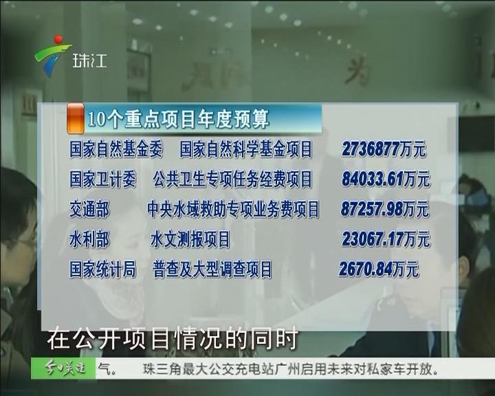 中央部门首次公布重大项目预算